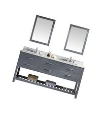 Virtu MD-2272-WMSQ-GR Caroline Estate Double Bathroom Vanity