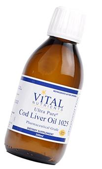 Vital Nutrients - Ultra Pure Cod Liver Oil 1025  - 100% Pure