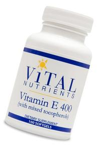 Vital Nutrients - Vitamin E 400 iu  100 gels