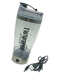 Vortex Mixer Stainless Steel Shaker Bottle Li-ion USB