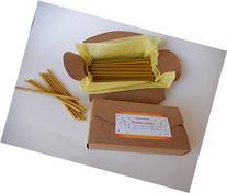 50 Natural Pure Beeswax Decor Taper Candles  Natural Honey