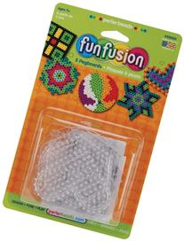 Perler Pegboards 5/Pkg-Assorted Clear Shapes