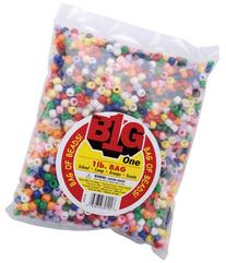 WMU - Pony Beads 9mm 1 Pound/Pkg-Opaque Multi