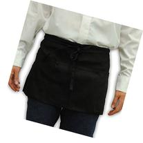 Waist Apron Server Apron with 3 Pockets Poly/Cotton Twill