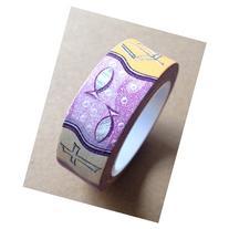 Washi Tape 15mmX10m-Purple Christian Symbols 4 rolls per