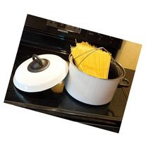 White Pasta Pot with Timer