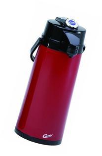 Wilbur Curtis Thermal Dispenser Air Pot, 2.2L Red Body Glass