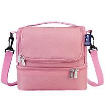 Wildkin Rip-Stop Pink Double Decker Lunch Bag
