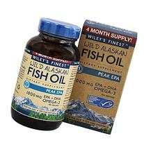 Wiley's Finest - Wild Alaskan Fish Oil 1000mg EPA + DHA Peak