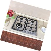 "WindMax 23"" Stainless Steel 4 Burner Stove Gas Hob Cooktops"