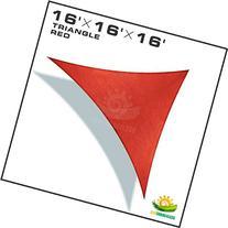 Windscreen4less 16' x 16' x 16' Sun Shade Sail Canopy in