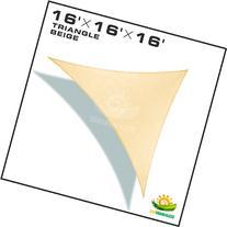 Windscreen4less Sun Shade Sail Canopy Beige 3rd Generation,