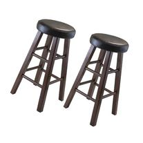 Winsome Wood Marta Assembled Round Counter Stool with PU