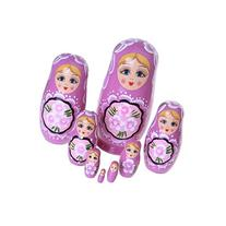 Winterworm 8pcs Cutie Lovely Purple Girl Nesting Dolls