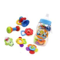 9pcs Baby Rattles Christmas Gift Set Baby's First Teether