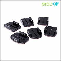 WoCase Flat and Curved Adhesive Mounts for GoPro HERO3+ 3 2