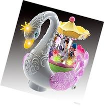 WolVol Bump and Go Beautiful Musical Rotating Horses