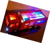 WolVol Electric Fire Truck Toy with Stunning 3D Lights and