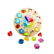 Wooden Animal Digital Shape Sorting Clock Toy