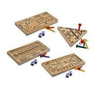 Wooden Peg Board Travel Games, Golf, Basketball, Football