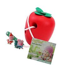 Wooden Worms Eat Apples Threading Toys Early Childhood