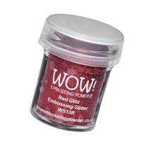 Wow Embossing Powder WOW! Embossing Powder, 15ml, Red Glitz