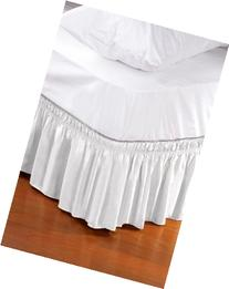 Wrap Around Style Easy Fit Elastic Bed Ruffles for Twin and