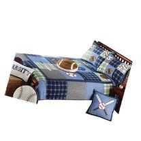 XQL 2 Piece Set Bedspread Boys Sport Football Baseball Twin