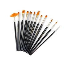 Xpassion 12-Piece Nylon Hair Professional Paint Brush Set,