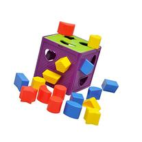 YIXIN Plastic Geometric Square Shape Sorter Cube Baby First