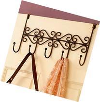 YUPENGDA Bronze 5 Hooks Towel Coat Clothes Hat Bag Over Door
