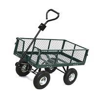 Yaheetech 400 lb Utility Steel Crate Wagon Garden Cart 38 x