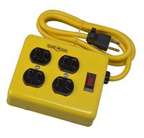 Yellow Jacket 2177N 4-Outlet Metal Power Block Adapter with