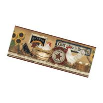 York Wallcoverings CB5539BD Hearts and Crafts III Hen and