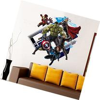 Yosa 3D Avenger Wall Sticker Baby Kids Room Stickers Cartoon