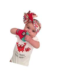 Yummy Mitt  Teething Mitten -Red & Turquoise -- No More