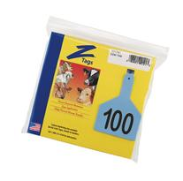 Z Tags 1-Piece Pre-Numbered Laser Print Tags for Cows,