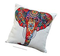 CoolDream Cotton Linen 18 by 18-Inch Decorative Throw Pillow