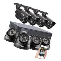 ZOSI 8-Channel HD-TVI 1080p Lite Security Camera System,