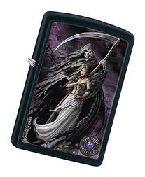 Zippo Anne Stokes Woman and Reaper Black Matte Pocket