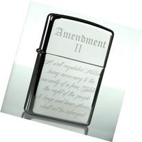 Zippo Lighter 2nd Amendment NRA Classic Chrome