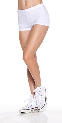 A.S Basic Juniors Cotton Span Fotted Hot Shorts Dance Yoga
