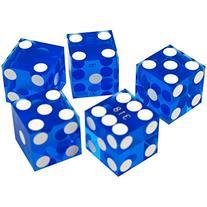 19Mm A Grade Serialized Set Of Casino Dice-Blue