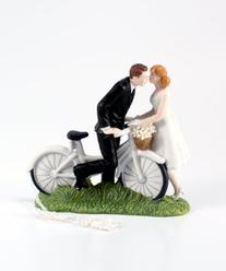 Weddingstar A Kiss Above Bicycle Bride and Groom Couple
