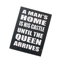 A Mans Home Is His Castle 40Cm Wooden Sign Vintage Style