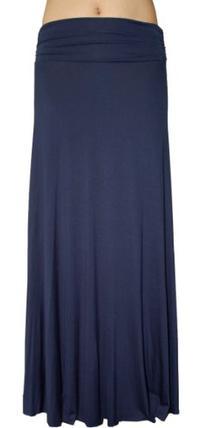 A.Sense PLUS SIZE Rayon Jersey Ruching Side Long Skirt