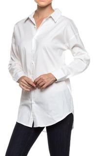 A.S Womens Relaxed Oversize Premium Cotton Button Down Bluse
