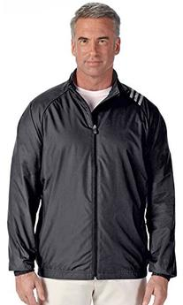 adidas A169 Mens 3-Stripes Full-Zip Jacket - Black & White,
