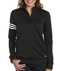 adidas A191 Ladies ClimaLite 3-Stripes Full Zip Pullover