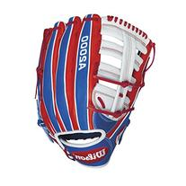 Wilson A2000 CL22 Merica Slow-Pitch Softball Glove, Red/